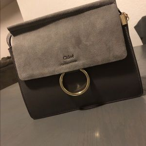Chloe Gray suede hand bag